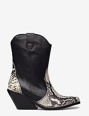 Henry Kole - Livia X Snake Grey - ankelstøvler med hæl - grey - 1