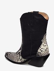 Henry Kole - Livia X Snake Grey - ankelstøvler med hæl - grey - 2