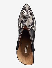 Henry Kole - Livia X Snake Grey - ankelstøvler med hæl - grey - 3