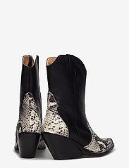 Henry Kole - Livia X Snake Grey - ankelstøvler med hæl - grey - 4