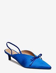 Henry Kole - Amelie Satin Blue - sling backs - blue - 0