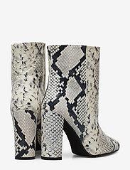 Henry Kole - Joan Snake Grey - ankelstøvler med hæl - grey - 4