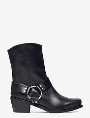 Henry Kole - Hazel Leather Black - ankelstøvler med hæl - black - 1