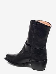 Henry Kole - Hazel Leather Black - ankelstøvler med hæl - black - 2