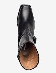 Henry Kole - Hazel Leather Black - ankelstøvler med hæl - black - 3
