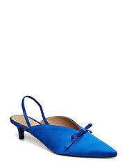 Henry Kole - Amelie Satin Blue - sling backs - blue - 1