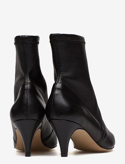 Henry Kole Emma Leather Black- Stiefel Black