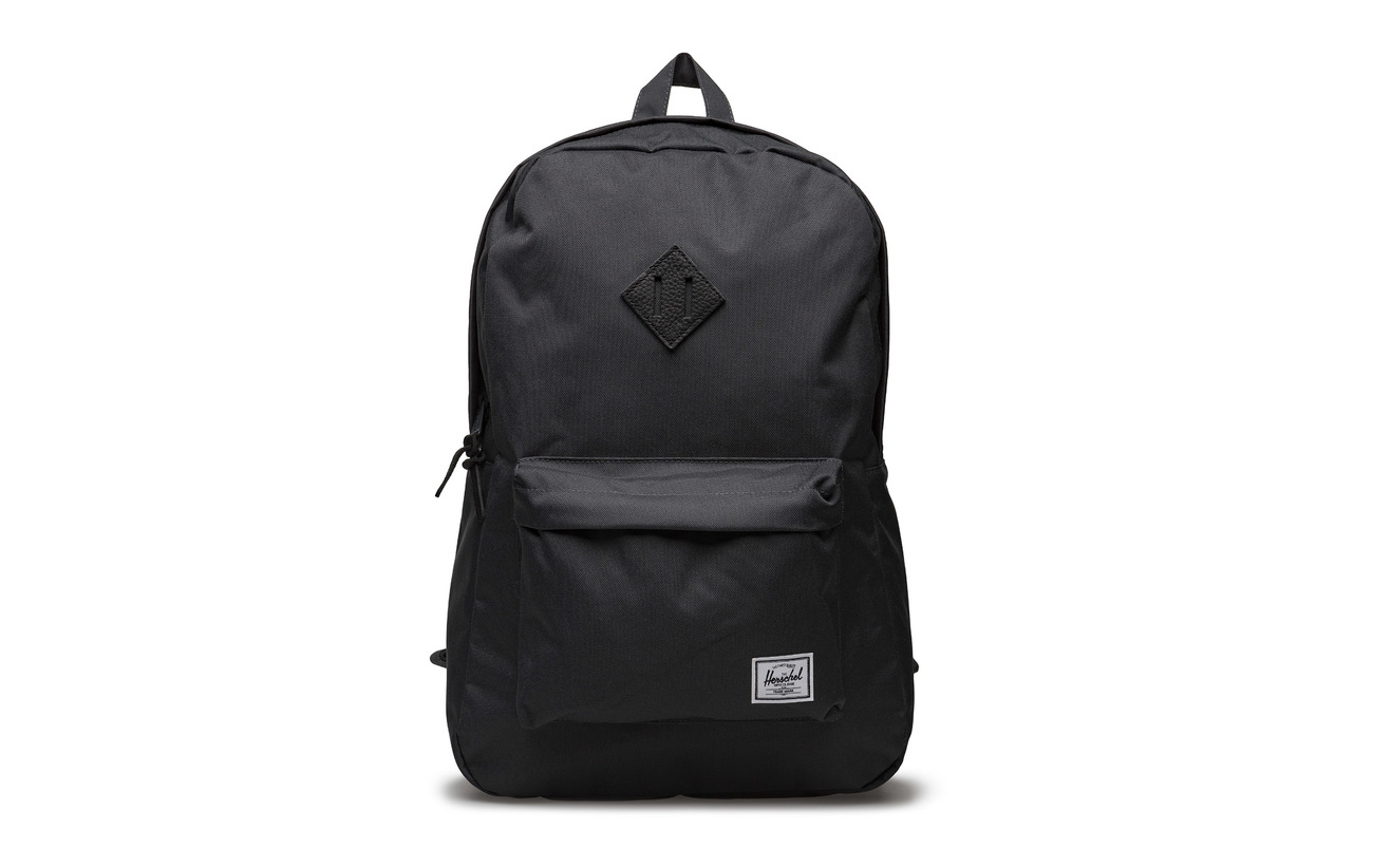 Shadow Backpack Heritage 600d black Herschel Polyester Dark Leather 5Ftw6xq