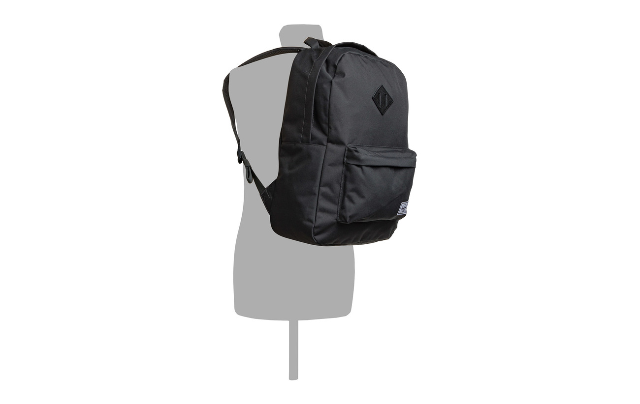 Shadow Heritage Backpack 600d Leather Herschel black Polyester Dark HBqUx8