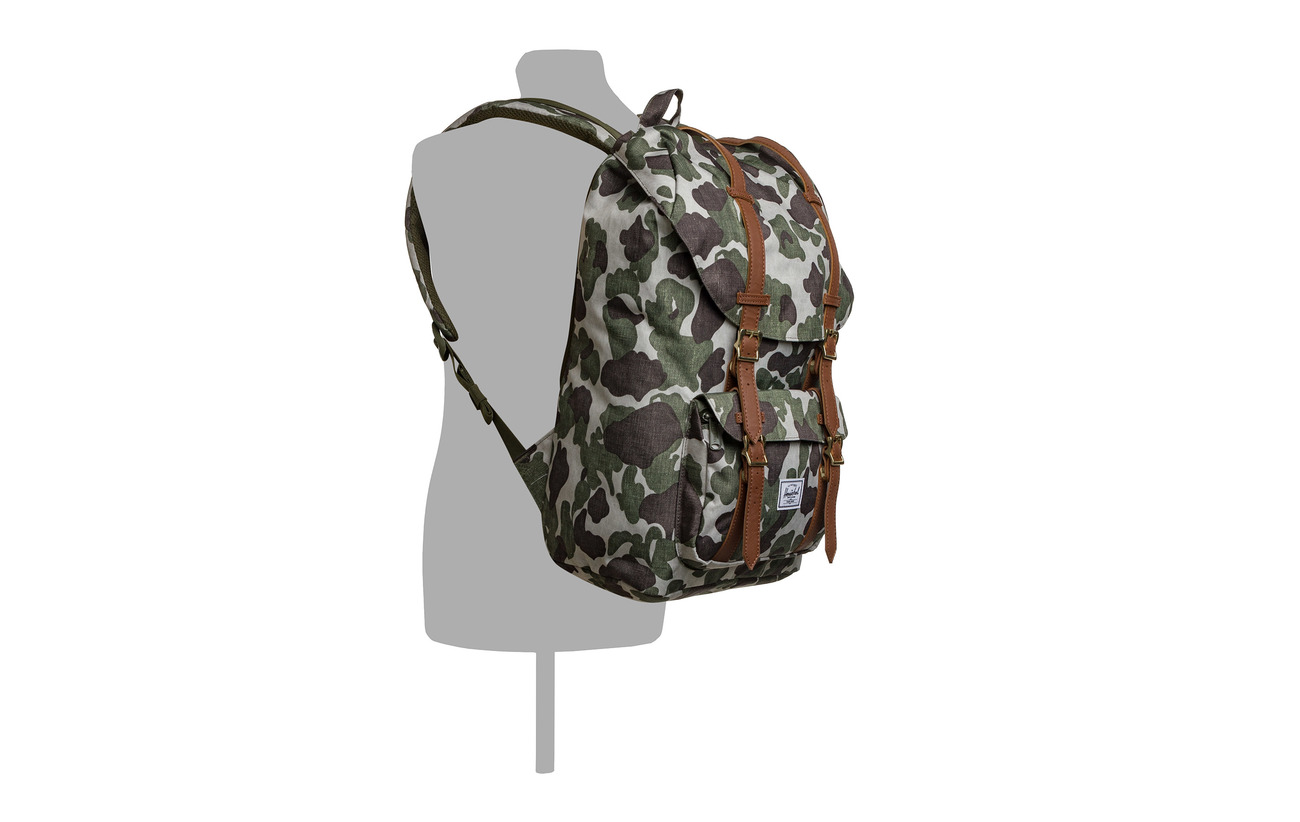 Camo Synthetic 600d Polyester tan America Leathe Herschel Little Frog qw4ZvOtO
