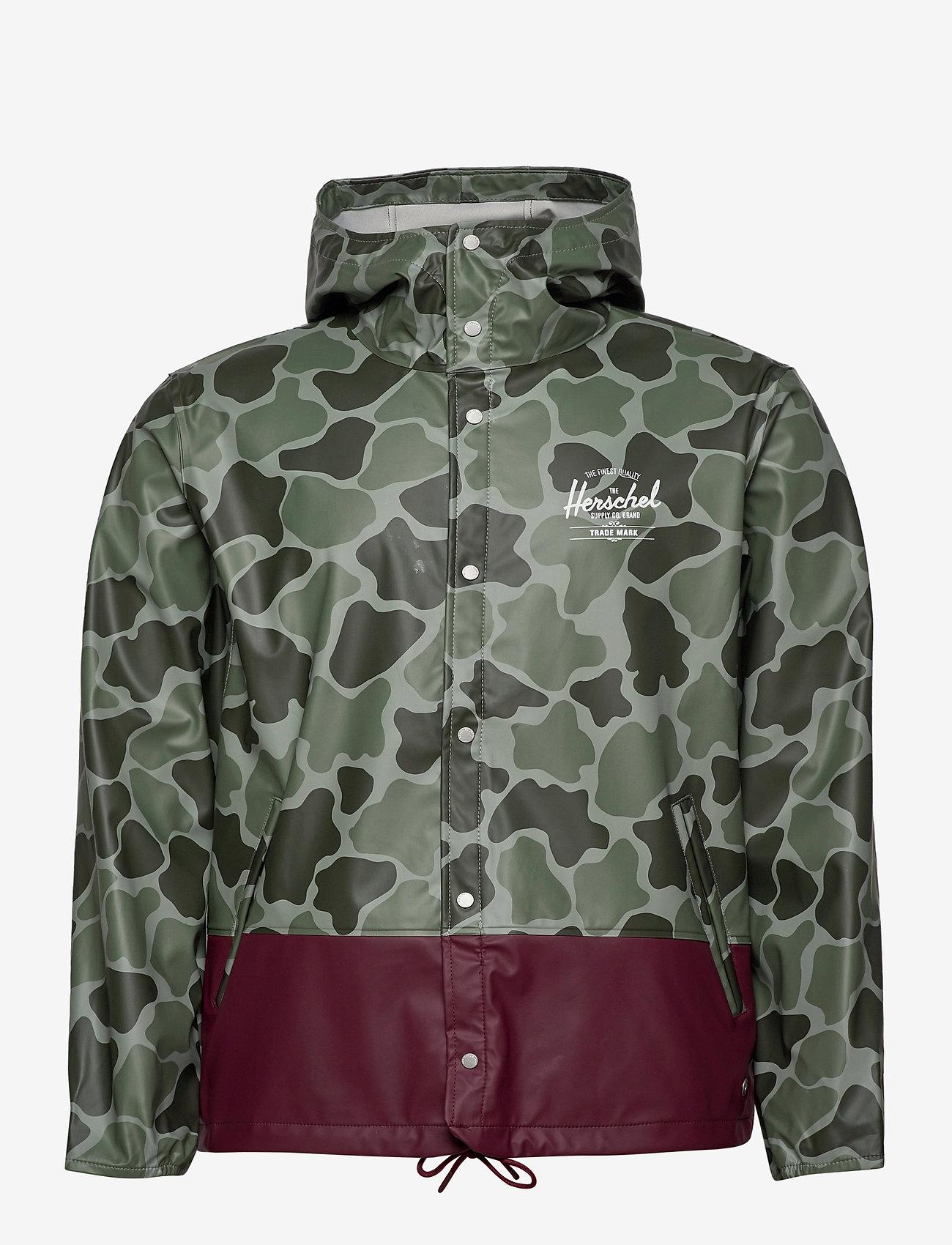 Herschel - Forecast Hooded Coach - manteaux de pluie - frog camo/windsor wine/white c - 1
