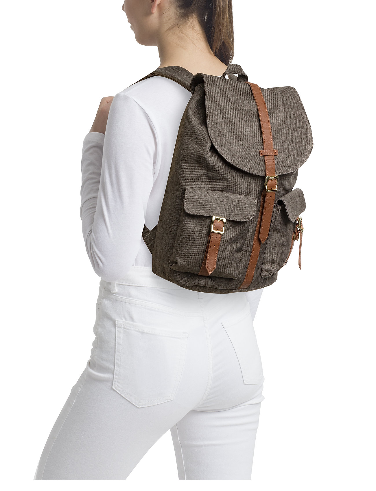 Herschel Dawson - CANTEEN CROSSHATCH/TAN SYNTHETIC LEATHER