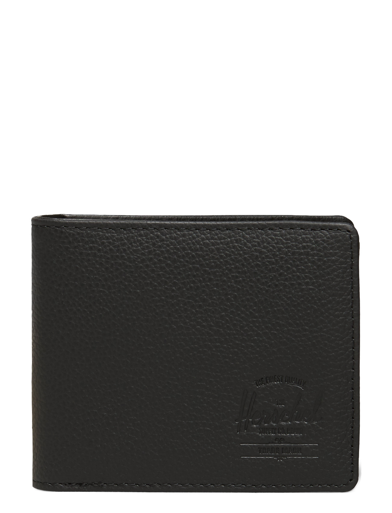 Image of Hank Leather Rfid - Black Pebbled Leather Accessories Wallets Classic Wallets Sort Herschel (3354387475)