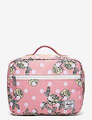 Herschel - Pop Quiz Lunch Box-Polka Floral Peony - kassit & pienet laukut - polka floral peony - 0