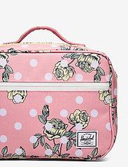 Herschel - Pop Quiz Lunch Box-Polka Floral Peony - kassit & pienet laukut - polka floral peony - 3