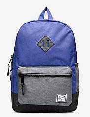 Herschel - Heritage Youth-Amparo Blue/Mid Grey Crosshatch/Bla - reput - amparo blue/mid grey crosshatc - 0