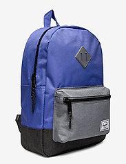 Herschel - Heritage Youth-Amparo Blue/Mid Grey Crosshatch/Bla - reput - amparo blue/mid grey crosshatc - 2