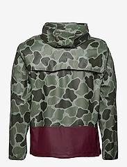 Herschel - Forecast Hooded Coach - manteaux de pluie - frog camo/windsor wine/white c - 2