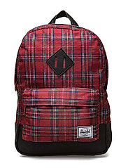 Heritage Kids - RED PLAID/BLACK/BLACK PU