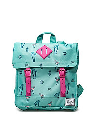 Survey Kids Backpack - SOUTH BEACH/PINK RUBBER