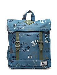 Survey Kids Backpack - ROAD TRIP/DEEP LICHEN GREEN RU