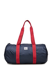 Packable Duffle - NAVY/RED