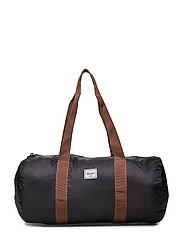 Packable Duffle - BLACK/SADDLE BROWN