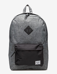 Heritage - backpacks - raven crosshatch/blk/blk peb l