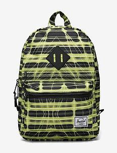 Heritage Kids - backpacks - neon grid highlight