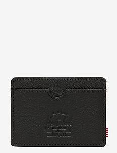 Charlie Leather RFID - Black Pebbled Leather - kaart houders - black pebbled leather