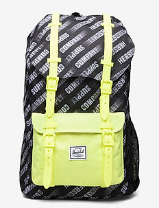Herschel Little America Youth - backpacks - hsc montion black/highlight