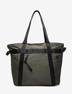 Alexander Zip-Dark Olive/Black - shoulder bags - dark olive/black