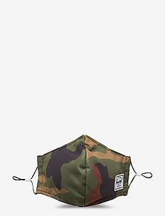 Classic Fitted Face Mask-Woodland Camo - mundschutz - woodland camo