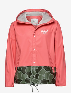 Forecast Hooded Coach - sadetakit - georgia peach/frog camo/white