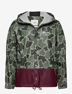 Forecast Hooded Coach - jakker og frakker - frog camo/windsor wine/white c
