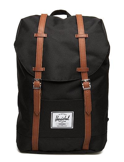 Retreat - Black Rucksack Tasche Schwarz HERSCHEL