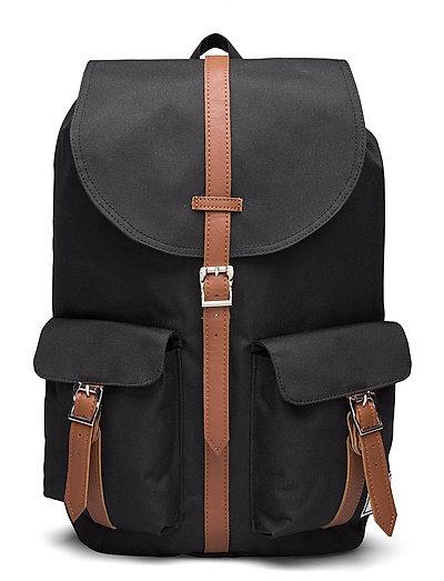Dawson - Black/Tan Synthetic Leather Rucksack Tasche Schwarz HERSCHEL