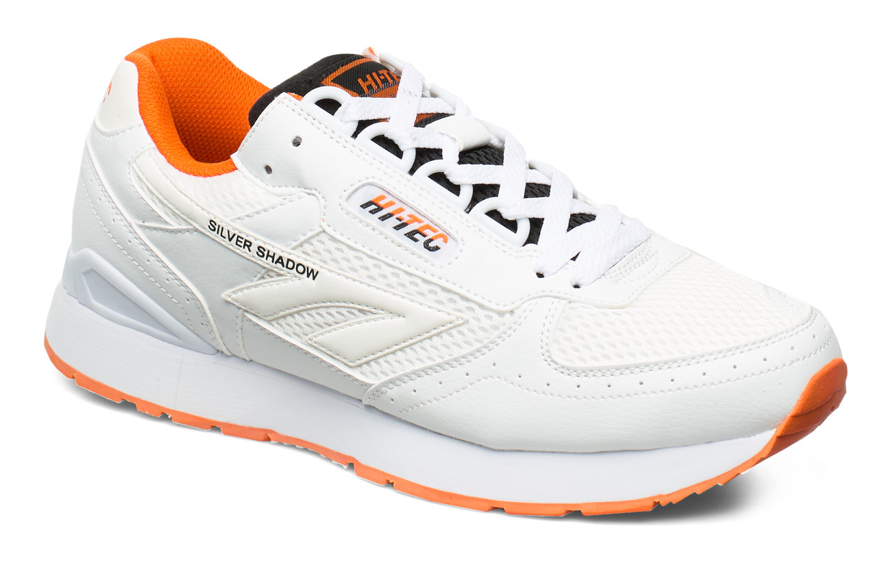 Hi-Tec HT SILVER SHADOW WHITE/BLACK/RED ORANGE - WHITE/BLACK/RED ORNG