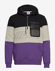 HT LEEPER - hoodies - black/grey/purple