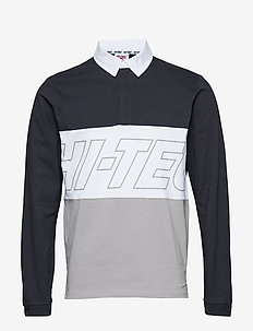 HT YUKI - long-sleeved polos - str limo/white/wet w