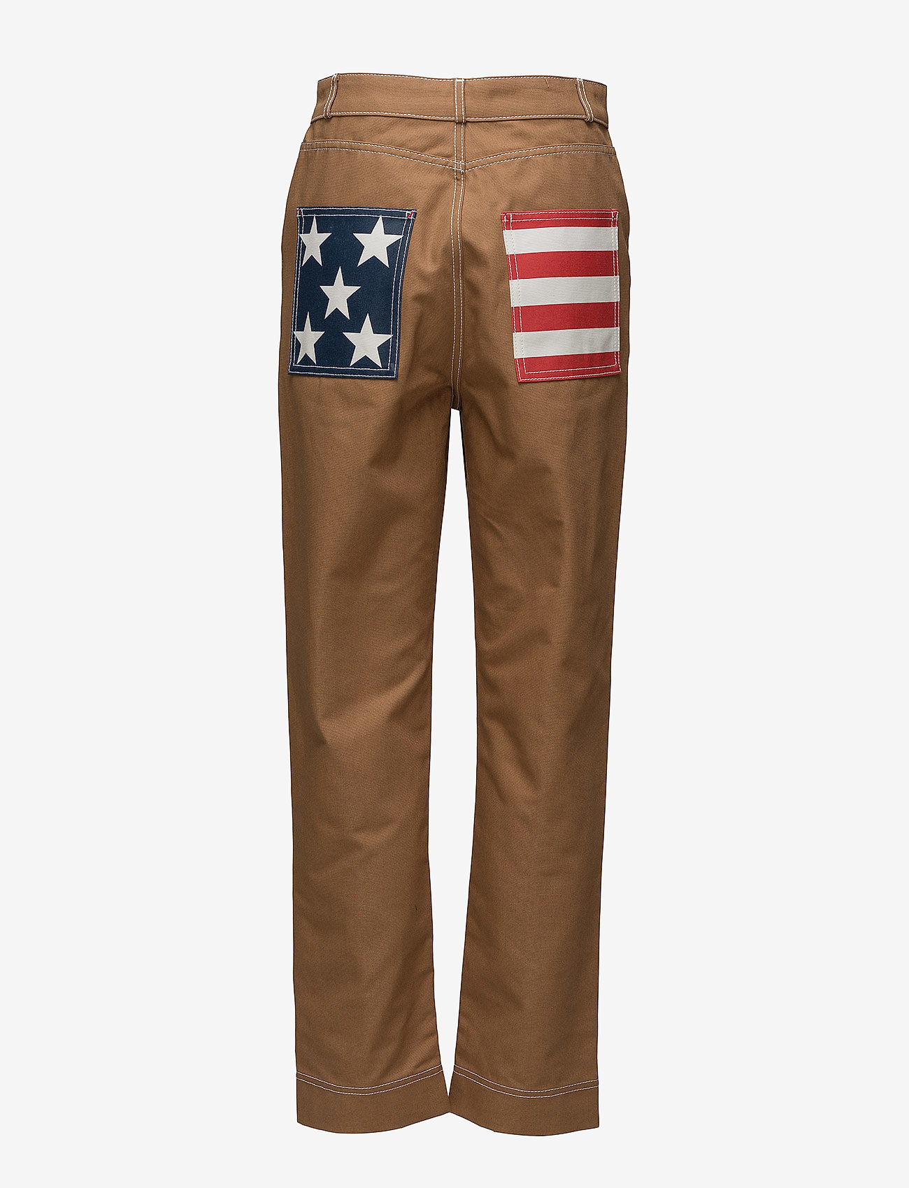 Hilfiger Collection - COTTON WORKWEAR  PAN - slim fit trousers - tobacco brown