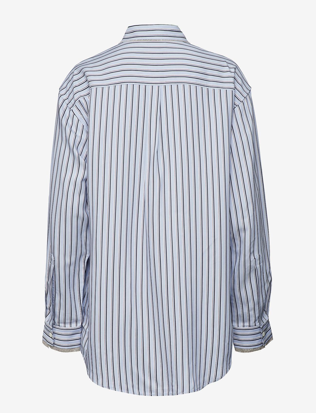 Hilfiger Collection - ICONIC TOMMY STRIPE SHIRT LS - langærmede skjorter - forever blue / multi - 1