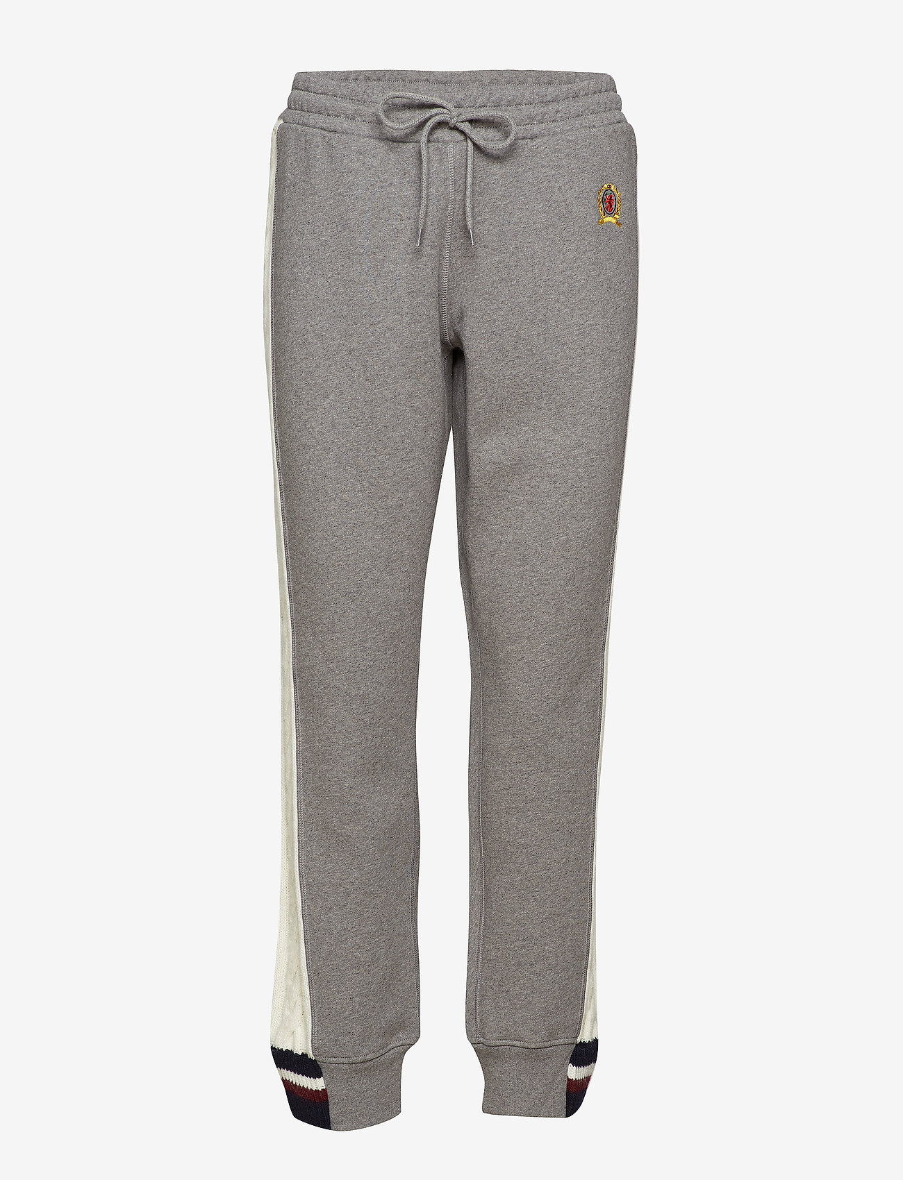 Hilfiger Collection - CABLE KNIT STRIPE TRACK PANT - sweatpants - grey marl / multi - 0