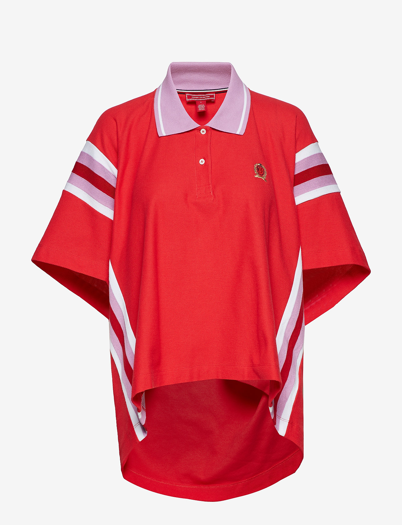 Hilfiger Collection - OVERPRINTED OVERSIZE - polohemden - true red - 0