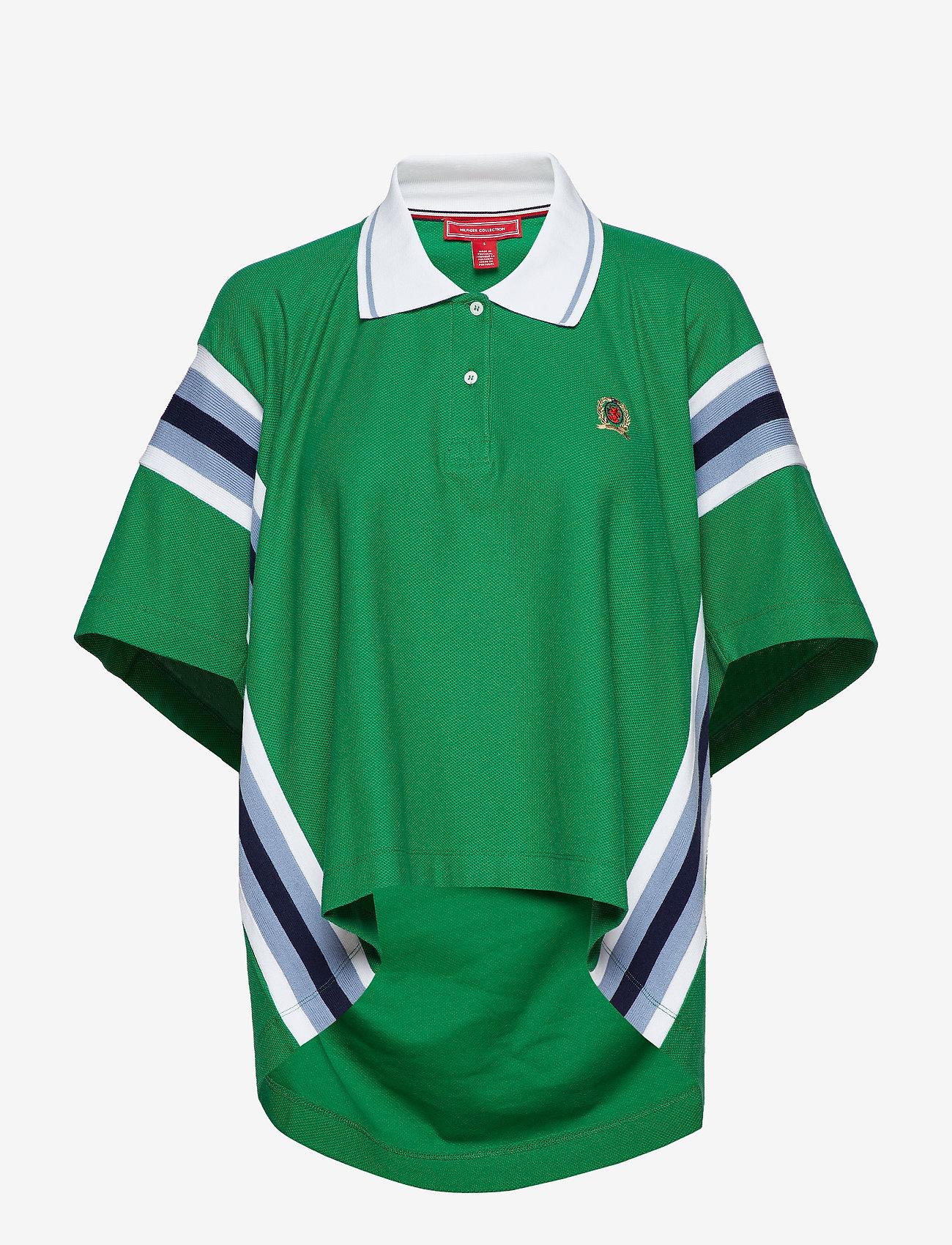 Hilfiger Collection - OVERPRINTED OVERSIZE - polohemden - verdant green - 0