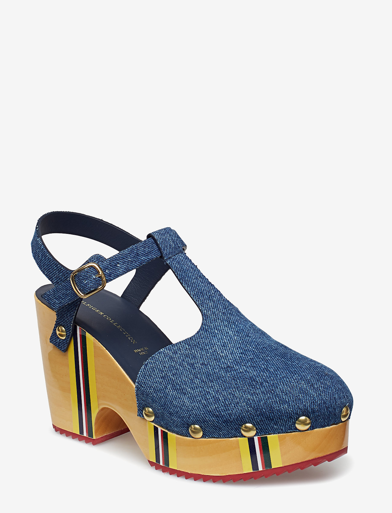 Hilfiger Collection - THC CLOG SANDAL - heeled sandals - denim - 0