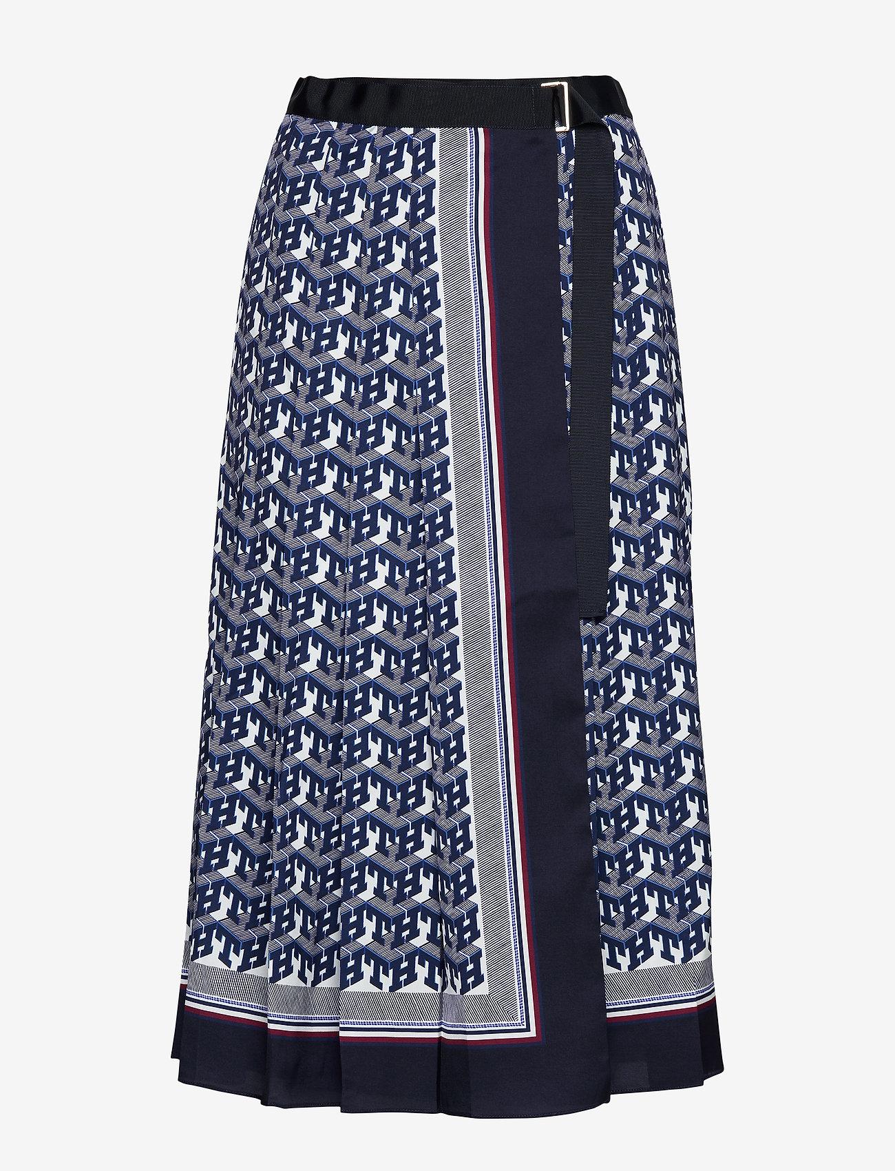 Hilfiger Collection - HCW MONOGRAM SKIRT, - midi skirts - th monogram - 0