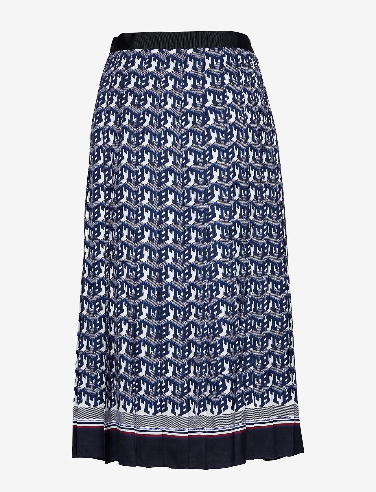 Hilfiger Collection - HCW MONOGRAM SKIRT, - midi skirts - th monogram - 1