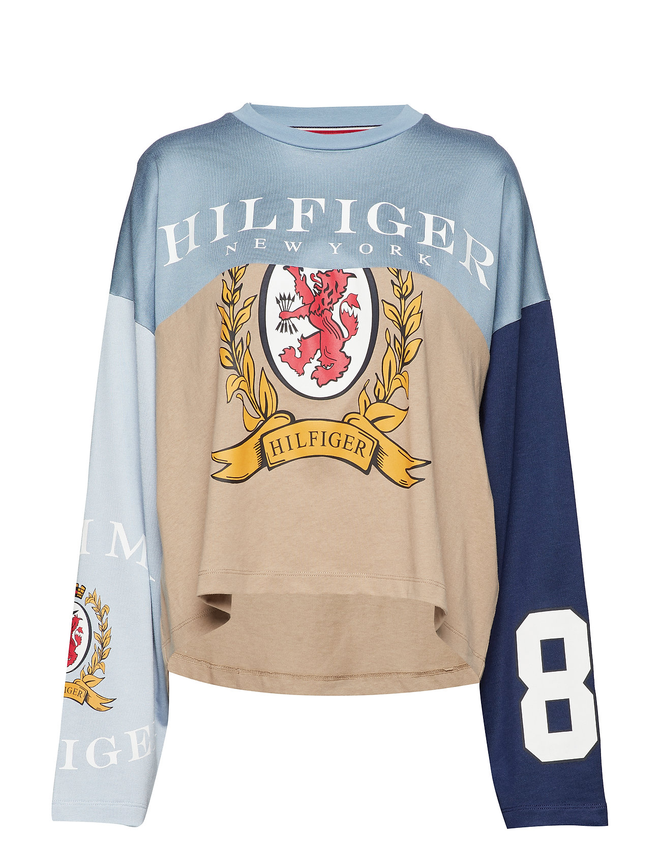Hilfiger Collection SPLICED FOOTBALL TSH - CROISSANT / MULTI