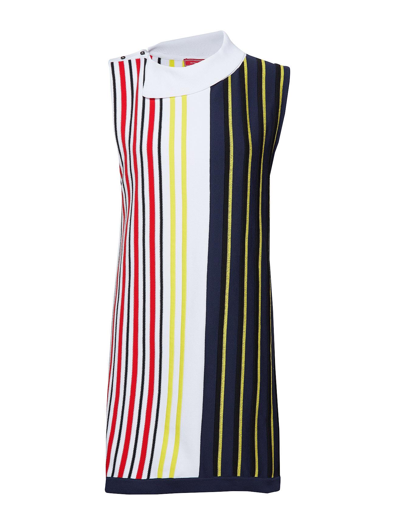 Hilfiger Collection STRIPED SWTR DRESS, - BRIGHT WHITE MULTI